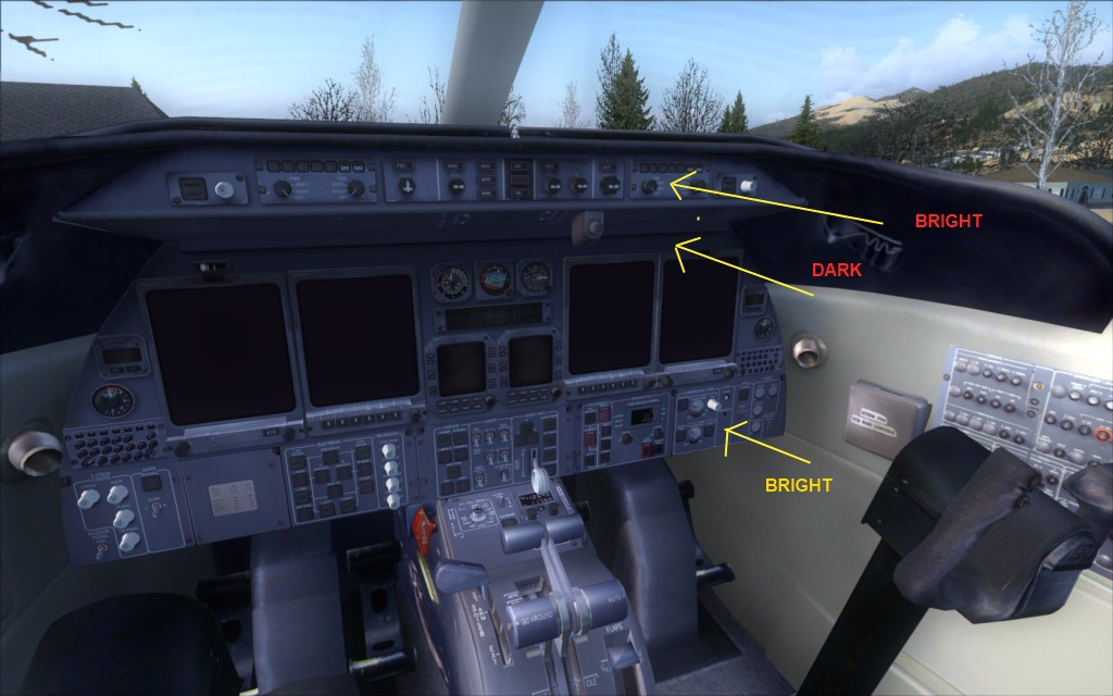 FSX Learjet very low quality textures inside