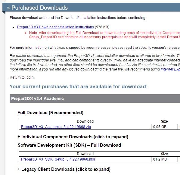 Downloading P3d V3 4
